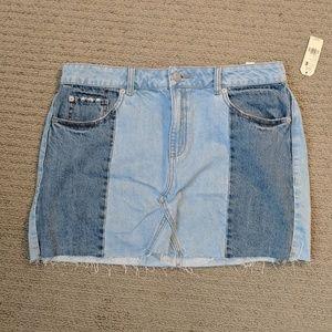 Two Toned Garage Mini Skirt
